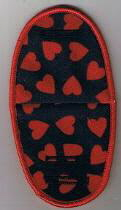 Red Hearts on Navy Blue