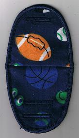 Sports balls on nany blue