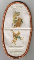 Stagecoach and rider on beige