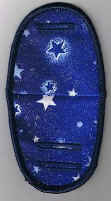 Stars on royal blue