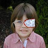 Girl Wearing Cloth Eye Patch