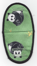 Panda Bears on Green