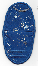 Silver Stars and Sparkles on Blue2
