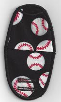 Baseballs on Black BN38P