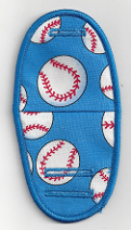 Baseballs on Light Blue BN40