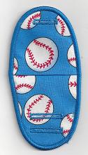 Baseballs on Light Blue BN40