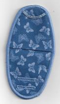 Butterflies on Medium BLue Plastic