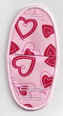 Medium Red Hearts On Pink